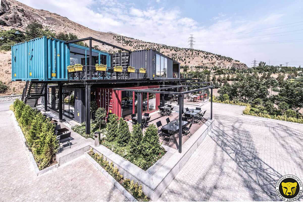Tochal complex restaurants and cafes Mount Tochal tehran iran mountain trekking tour iran travel guide attractions things to do destinations Cheetah adventures